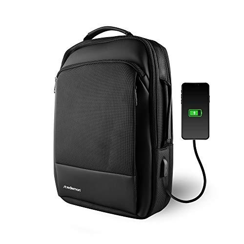 Redlemon Mochila para Laptop Premium y Maletín Ejecutivo con Puerto USB para Power Bank (no incluida), Resistente al Agua, Múltiples...