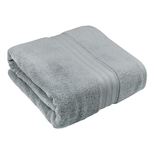 Toalla de baño 100% algodón egipcio, súper suave y absorbente, toalla grande de 80 x 160 cm, 500 g/m² para toallas de ducha, manta de dormir, 1 pieza, color gris