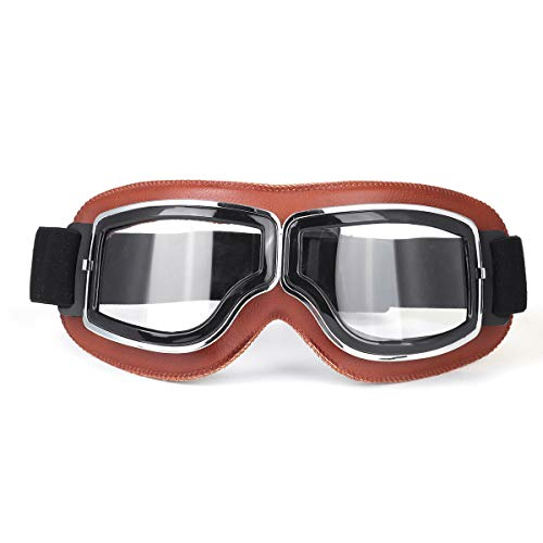 Ys-s Personalización de la Tienda Motocicleta Off-Road Mirror Helmet Piloto Scooter Retro Motocicleta Operado Operado Bicicleta Montar Vintage Gafas de Sol Gafas (Color : #3)