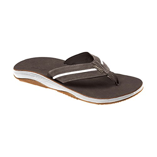 Reef Playa Cervesa Dark Brown/White – Sandales, Homme, Marron (Marron)