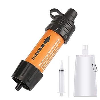 FEALING Filtre à eau pour extérieur, mini filtre à eau pour camping, extérieur, filtre à eau, filtre à eau, filtre de camping, randonnée pédestre, voyage, jaune