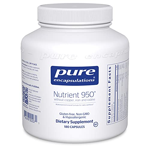 Pure Encapsulations Nutrient 950 Without Copper, Iron, & Iodine | Antioxidant Multivitamin and Mineral Supplement to Support Optimal Health and Physiological Functions* | 180 Capsules