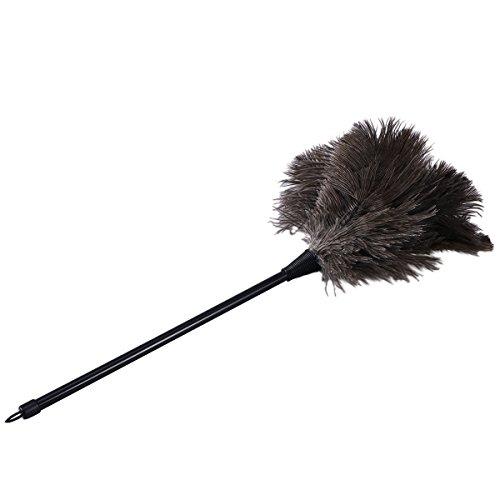 BESTOMZ Straußenfeder Staubwedel mit langem Griff Staub Feder Reinigung Werkzeug