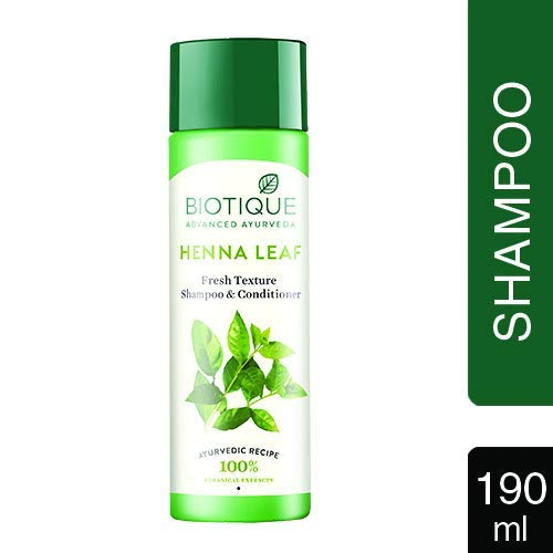 Biotique Bio Heena Leaf Fresh Texture Shampooing et revitalisant, 190ml
