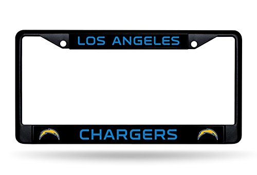 Rico Industries Los Angeles Chargers Black Chrome Frame