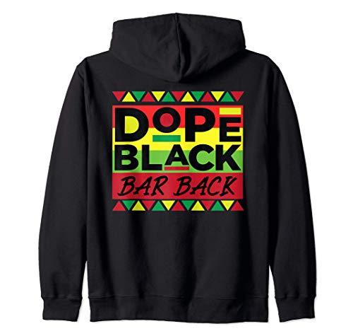Dope Black Bar back Sin disculpas Afroamericana Melanina Sudadera con Capucha