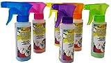 Rox 6 Flaschen Sprühkreide Straßenkreide mit Sprühkopf wasserlöslich