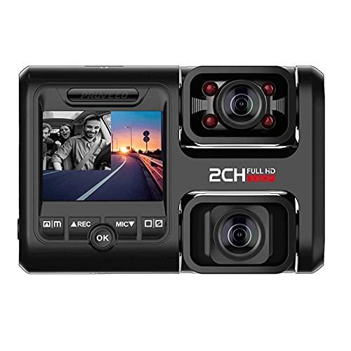 Dash Cam Con visión nocturna por infrarrojos y WiFi, doble frente 1080p y la cámara interior del tablero de instrumentos con aparcamiento monitorización, detección de movimiento y WDR for los coches a