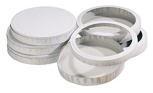 folia 995 - Käseschachteln, weiß, Durchmesser ca. 15,3 cm, 10 Paar, ideal zum Laternen basteln