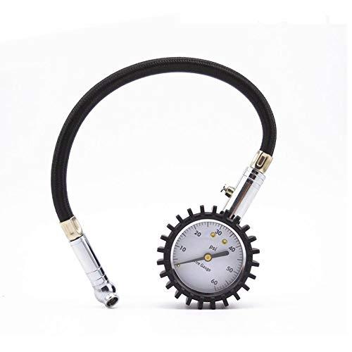 KingBra 1 medidor de presión de neumáticos Flexi-Pro de -60 PSI con portabrocas de aire, lo mejor para coche y motocicleta