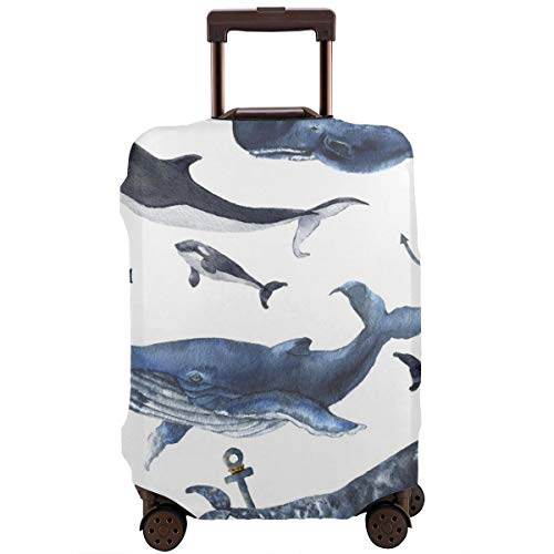 Travel Suitcase Protector,Boys Playing Basketball at Sunset Horizon Sky Dramatic Scene,Suitcase Cover Washable Luggage Cover XL