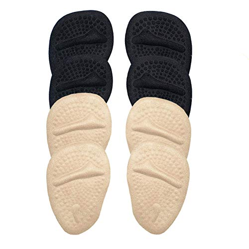 Metatarsal Pads Gel Ball of Foot Cushions Adhere to Shoes for Rapid Pain Relief Comfortable Forefoot Support Pads 4 Pack (Footpad)
