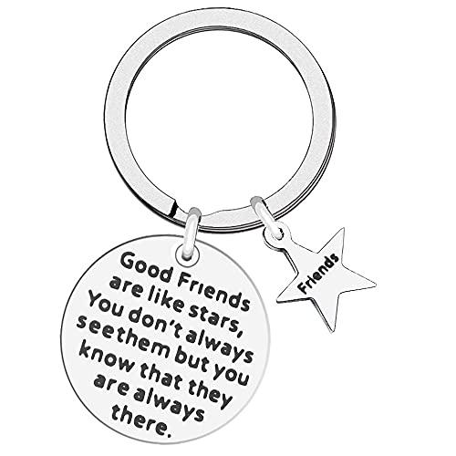 kuou Best Friend Keyring, Good Friends are Like Stars Keychain Long...