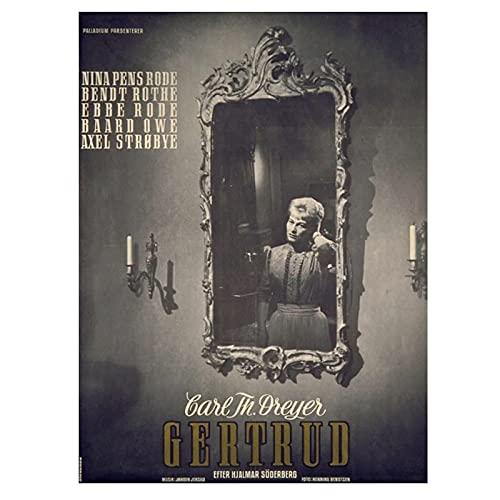 HZLYCH La colección de Vampiros de Carl Theodor Dreyer, póster de película, Pintura en Lienzo Impresa para la decoración del hogar de la Sala de Estar -50X70 CM sin Marco