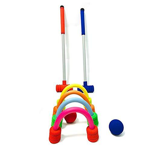 WZM Sport Krocketspiel Family – Krocket aus Kinder und Erwachsene 2 Personen mit Spielzeug Outdoor Familien Lernspiele Geschenk für Kinder Transporttasche Weicher Ball (Size : A)
