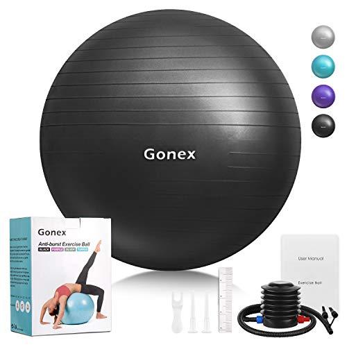 Gonex 55cm 65cm 75cm Ballon Fitness Pompe Incluse Ballon Grossesse AntidérapantBallon Gym...