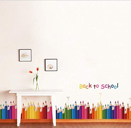 hfwh muurstickers, creatief pastel-muurschildering, school, citaten, thuisdecoratie, kinderen, school, decoratie, wandsticker, jurk, Art 50 x 70 cm