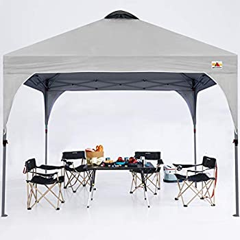 ABCCANOPY Outdoor Pop up Canopy Tent 10x10 Camping Sun Shelter-Series Gray
