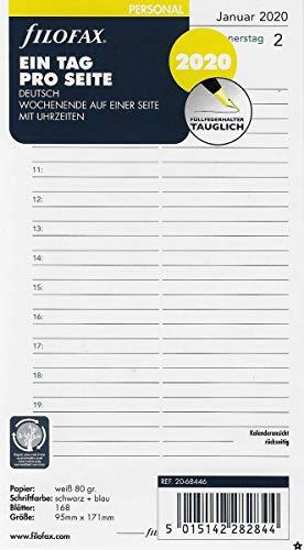 Filofax Kalendereinlage Personal 1 Tag auf 1 Seite (deutsch)2020, 000020-68446