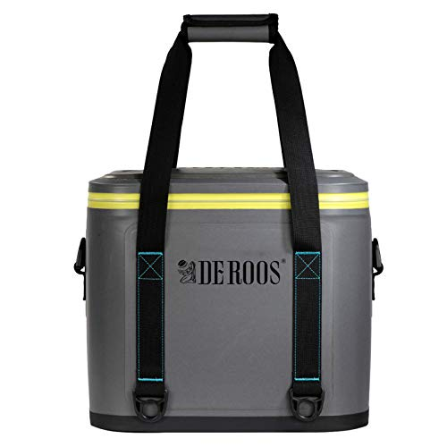 DEROOS Soft Cooler 35 Cans,3 Days Ice Life,Waterproof Portable Large Cooler Bag Soft Sided Cooler,Leak-Proof Zipper Insulated Soft Cooler Bag for Picnic, Camping, Hiking, Fishing, Beach, Outdoor