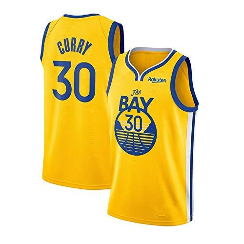 Fei Fei Golden State Warriors Curry #30 Unisex Camiseta De Baloncesto De Los Hombres Transpirable All-Star Jersey(Tamaño: S-XXL),1,XL