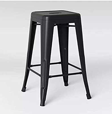 Cool Amazon Com Baxton Studio Henri 30 Metal Bar Stool In Camellatalisay Diy Chair Ideas Camellatalisaycom