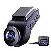 #LightningDeal Vantrue S1 4k Hidden Dash Cam Built in GPS Speed, Dual 1080P Front and Rear Car Camera with 24/7 Parking Mode, Sony Night Vision, Single Front 60fps, Capacitor, G-Sensor, Support 256GB Max for Trucks