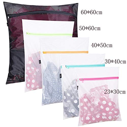 LLDXYD Mesh Laundry Bags Set Travel Laundry Bags Fine Net Laundry Basket Laundry Bags for Underwear Bag Suit 1