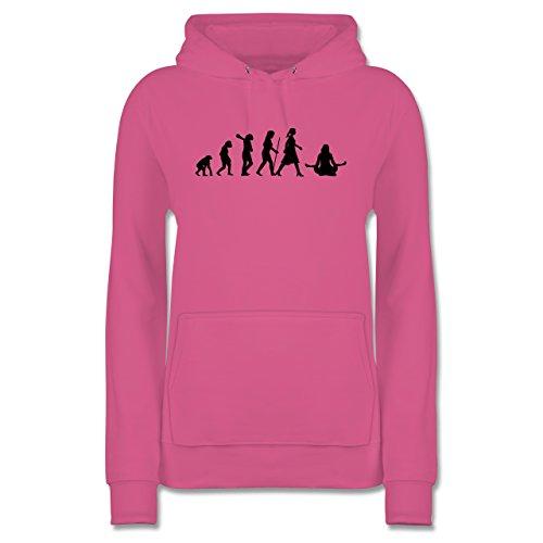 Evolution - Meditation Evolution - XL - Rosa - JH001F - Damen Hoodie und Kapuzenpullover für Frauen