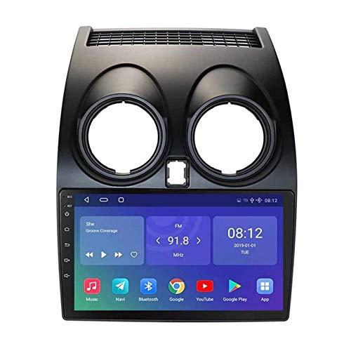 ZHANGYY Reproductor Multimedia de navegación GPS de 9 Pulgadas Compatible con Nissan Qashqai 2006-2013, FM/RDS/Bluetooth/Mirror Link/Cámara de visión Trasera/Controles del Volante