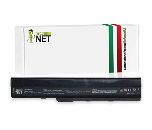 Batteria 5200mAh compatibile con PC portatile Asus X52F, X52J, X52JB, X52JC, X52JE, X52JG, X52JK, X52JR, X52N sostituisce A31-K42, A32-K42, A31-K52, A32-K52, A41-K52, A42-K52, 70-NXM1B2200Z, 90-NYX1B1000Y