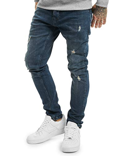2Y Herren Slim Fit Jeans Chris blau W 30