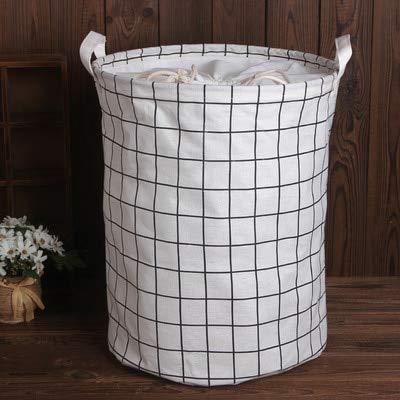 Mdsfe 1pc Cotton And Linen Dust Collecting Bucket Hamper Washing Toy Dirty Clothes Storage Organizer Laundry Baskets Bin 35x45cm - E3 35x45cm,a5