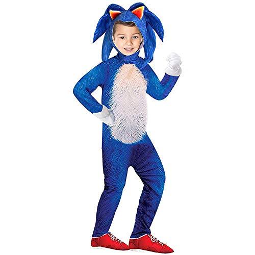 Mono de Dibujos Animados de Juego de Vestir Adecuado para nios Disfraz de Erizo de Halloween