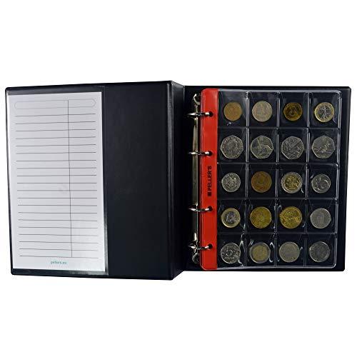 PELLER'S Álbum de colección M para 200 Monedas Medianas de hasta 31mm...