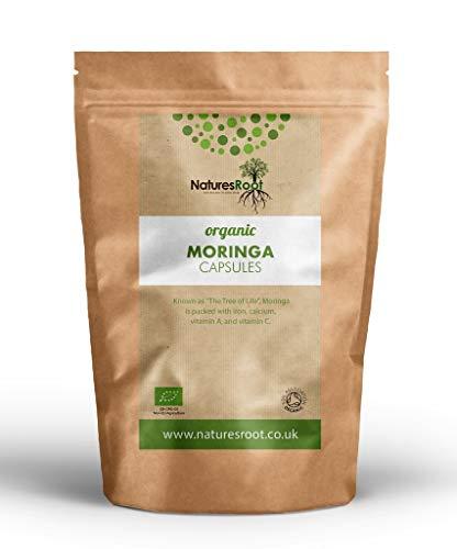 Nature's Root Moringa Capsules (200 Caps) - Pure Moringa Oleifera | Superfood Supplement | Natural Detox | Vegan | Powerful Antioxidant