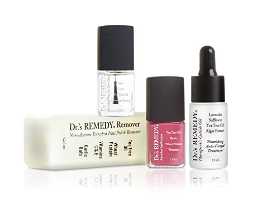 Dr.'s REMEDY, Anti-Fungal START To FINISH Kit With TOTAL Two-In-One, REMEDY Remover, Therapeutic Cuticle Oil and RELAXING Rose