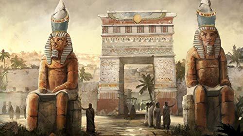 Adulto Puzzle 500 Piezas De Madera Rompecabezas Puzzles Juguetes Educativos  Patrón De Estatua De Faraón   Decoración Única Para El Hogar