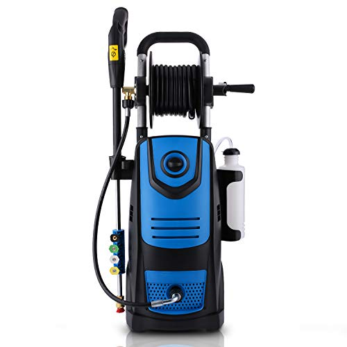 XinDis Specity 3800 PSI 2.8GPM Electric Pressure Washer Power Washer Machine 1800W High Power Washer with Soap Bottle and Hose Reel (Blue)