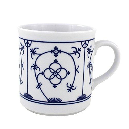 Triptis 6527920434882116 Tallin Indischblau Kaffeebecher, 250 ml, Porzellan, weiß/blau (4 Stück)