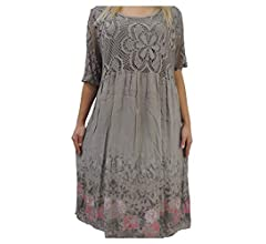 Nowingline Schone Farben Zur Auswahl Damen Kleider Grosse 46 48 50 52 54 Mit Blumenmuster Apfelgrun Amazon De Bekleidung