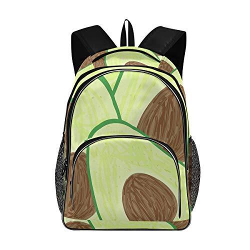 LUPINZ Laptop-Rucksack, Avocado-Schnittmuster, für Schule, Schule, für 39,6 cm (15,6 Zoll) Laptops und Notebooks