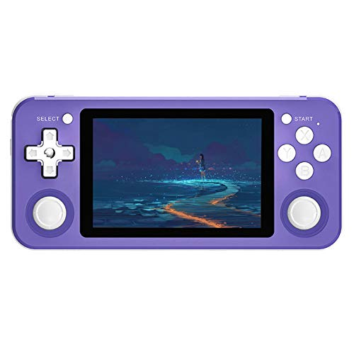 RG351P Handheld Game Console, Retro Game Console Open Source System RK3326 Chip, Free with 64G TF Card and 2500 Classic Game Video Game Console 3.5 Inch IPS Screen Built-in 3500mAh Battery