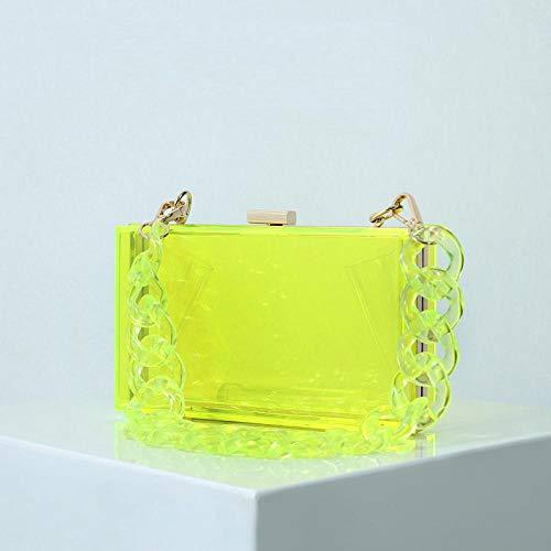 Umhängetasche Damen Clutch Transparente Acryl Mini Handtasche Damen Clutch Bag Rhombus Hochzeitsfeier Geldbörse Mode Damen Abendtasche Grün