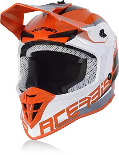 Acerbis Linear Casco Motocross Arancione/Bianco M (57/58)