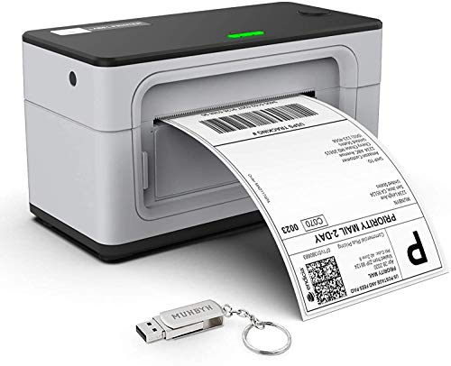 MUNBYN USB Label Printer, Thermal Shipping Printer for Package Address Labeling, UPS FedEx Mailing-...