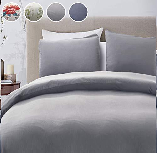 LOKATSE HOME Washable Duvet Cover Set with 1 Pillowcase Soft and Comfortable - Machine Washable...