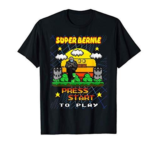 Bernie Sanders Meme Sitting Retro Klappstuhl Gamer T-Shirt