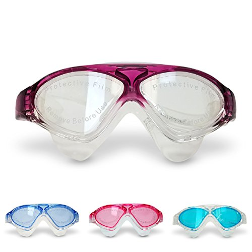 Price comparison product image Swimtastic MaxView Swim Goggles Includes Free Earplugs,  Purple