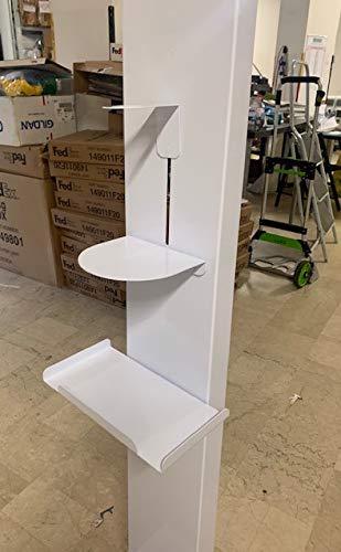 Colonnina dispenser igienizzante mani piantana porta dispenser per gel disinfettante (Altezza 160 cm)